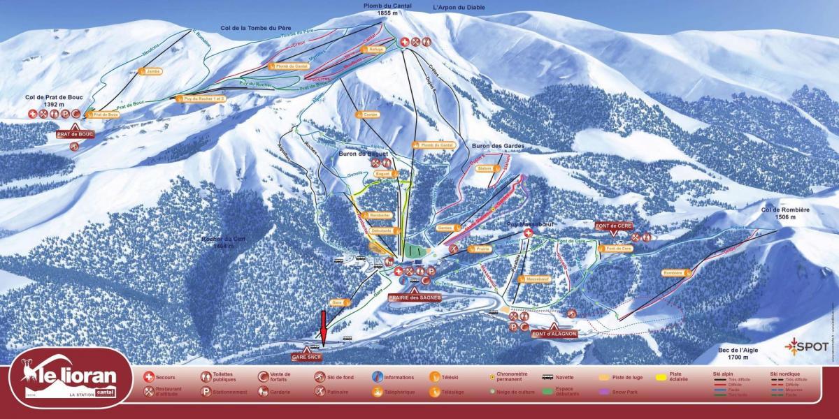 Plan de la station du lioran